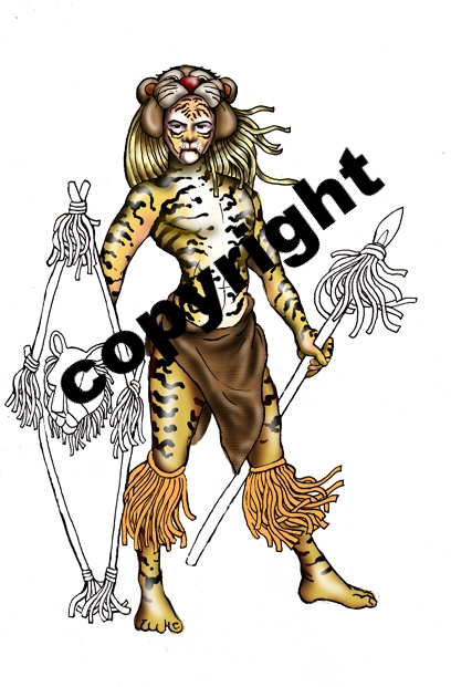 zulu dancer coloring pages - photo#23